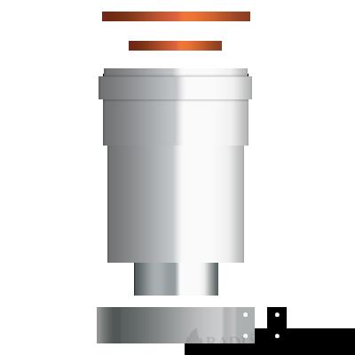 Ariston 60/100-80/80 Alu/Alu függőleges szétválasztó indító idom turbós kazánhoz