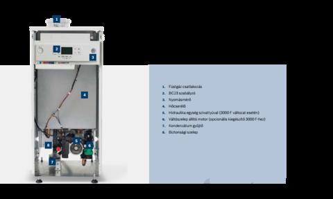 Bosch Condens 2000F EU-ERP - 42 Kw álló fűtő kondenzációs gázkazán váltószelep nélkül
