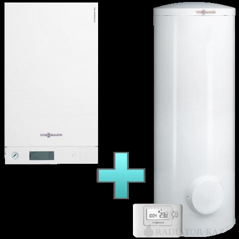 Viessmann Vitodens 100-W Touch 35 kW gázkazán, kondenzációs hőközpont Vitocell 100-W 300 L bivalens tárolóval EU-ERP