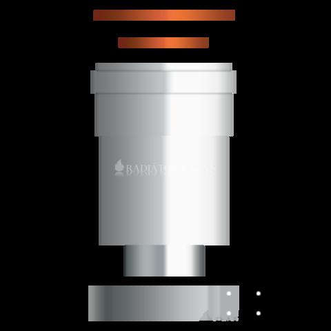 Ariston 80/125 Pps/Alu függőleges indító idom kondenzációs kazánhoz