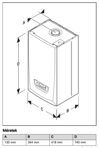Saunier Duval Thema Condens AS 25 EU ERP kondenzációs, fűtő gázkazán