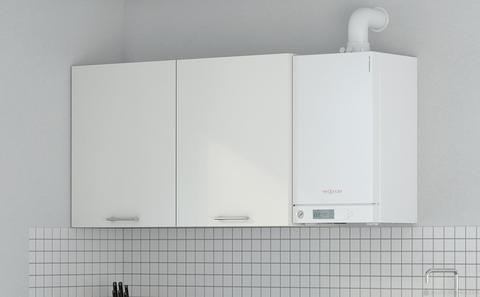Viessmann Vitodens 100-W Touch 26 kW gázkazán, kondenzációs hőközpont Vitocell 100-W 300 L bivalens tárolóval EU-ERP