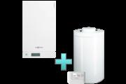 Viessmann Vitodens 100-W Touch 19 kW gázkazán, kondenzációs hőközpont Vitocell 100-W 100 L tárolóval Vitotrol 100 OT1 távszabályozóval EU-ERP