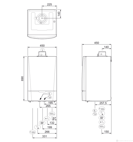 Remeha Calenta 35S EU ERP fűtő kondenzációs gázkazán